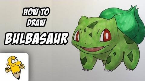 How to draw Bulbasaur Pokemon drawing tutorial