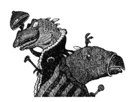 Grüßende Lindwürmer