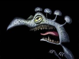 Nachtigaller als Dinosaurier