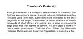 Translator's Postscript