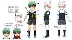 Zanki Zero Art Book - Ryo Mikajime - Design Profile (Child)