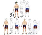 Zanki Zero Art Book - Ryo Mikajime - Design Profile (Swimsuit)