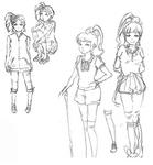 Zanki Zero Art Book - Yuma Mashiro - Unused Designs 2