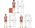 Zanki Zero Art Book - Haruto Higurashi - Design Profile (Swimsuit)
