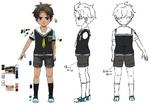 Zanki Zero Art Book - Mamoru Ichiyo - Design Profile (Child)