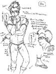 Zanki Zero Art Book - Mamoru Ichiyo - Unused Design Sketch