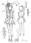 Zanki Zero Art Book - Yuma Mashiro - Unused Designs 3