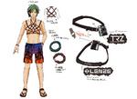 Zanki Zero Art Book - Ryo Mikajime - Design Profile (Details)