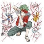 Zanki Zero Art Book - Ryo Mikajime - Character Illustration Early (3)