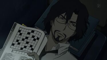 Zankyou no terror-02-shibasaki-detective-terrorism department-glasses-goatee-crossword