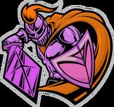 - orange cape icon pink armor