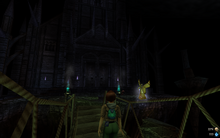 Dark cathedral outside