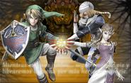 Link, Zelda y Sheik