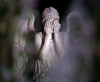 Weeping Angel Covered Eyes