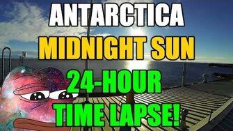Antarctica 15 days of Midnight Sun Time-Lapse Footage