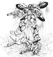 Robotech spider cyclone vs invid cougar by chuckwalton-d95lerk