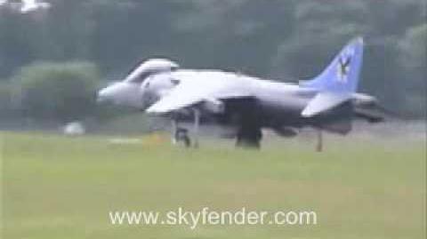British Harrier Jump Jet Aircraft Tribute