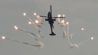 4K Spectacular Flares Show APACHE AH 64 at Sanicole Airshow 2015