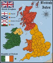 42028357-map-and-flags-of-british-isles