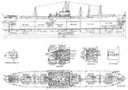 Water Liberty ship drawing