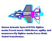 Queen Armada VSTOL fighter mode