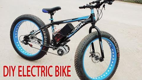 DIY Electric Bike 40km h Using 350W Reducer Brushless Motor