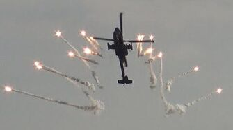4K Spectacular Flares Show APACHE AH 64 at Sanicole Airshow 2015-0