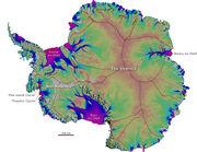 Antarctica ice velocity