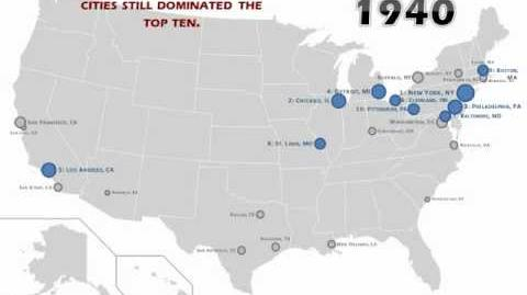 Largest Cities in the United States Over Time