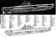 Yorktown-class carrier technical drawing 1953 (1)