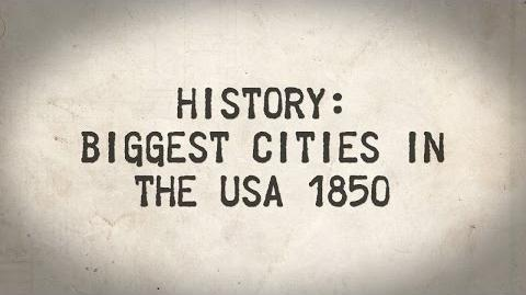 History Biggest cities in the USA in 1850