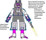 Transfomer Gobot Queen Armada