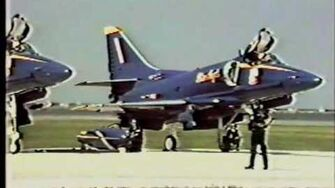 1986 Cleveland National Air Show Blue Angels demonstration Part 1
