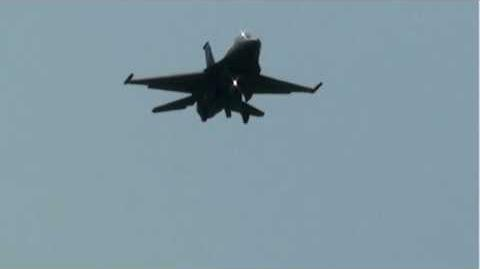USAF F-16 approach and landing on runway 05 at YYZ