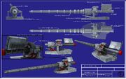 Rail Gun Prototype Blueprints by Caetis