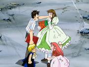 Kiyomaro y Zatch se hacen amigos de Megumi y Tía