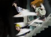 Kiyomaro, Kory y Zatch corren