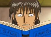 Hosokawa leyendo el libro de Reycom