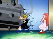 Zatch bloquea el ataque de Maruss