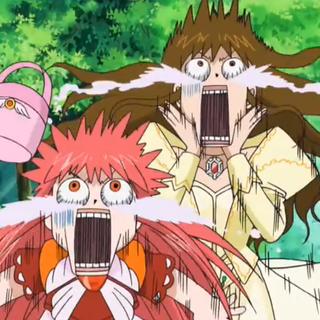 Megumi y Tía asustadas