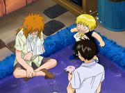 Kiyomaro y Zatch interrogan a Kory