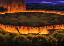 Magma Garon separa la tierra