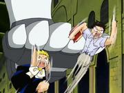 Baltro atacando a Kiyomaro y Zatch