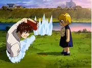 Kiyomaro contando su plan contra Hosokawa