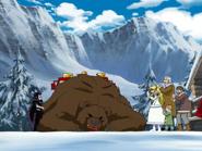 Brago puts bear down