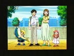 Zatch, Kiyo, Megumi, and Tia taking a picture