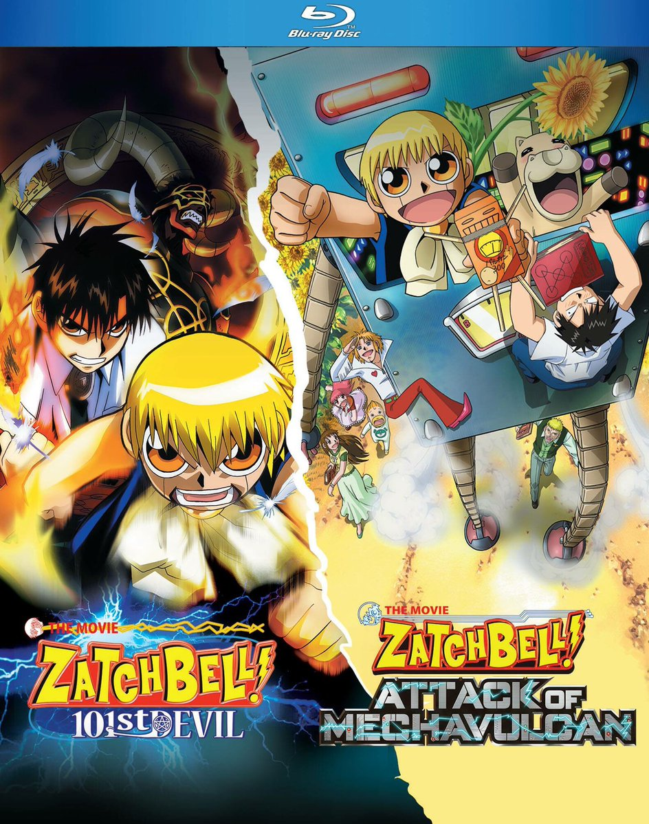 The blu ray of the american release of zatch bell 101st devil and attack of mechavulcan