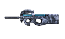W m submachinegun p90 측면