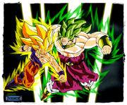 Goku ss3 vs broly ss3 by moncho m89 display