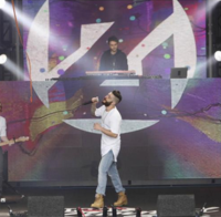Zedd and Jon Bellion performing on Jimmy Kimmel Live